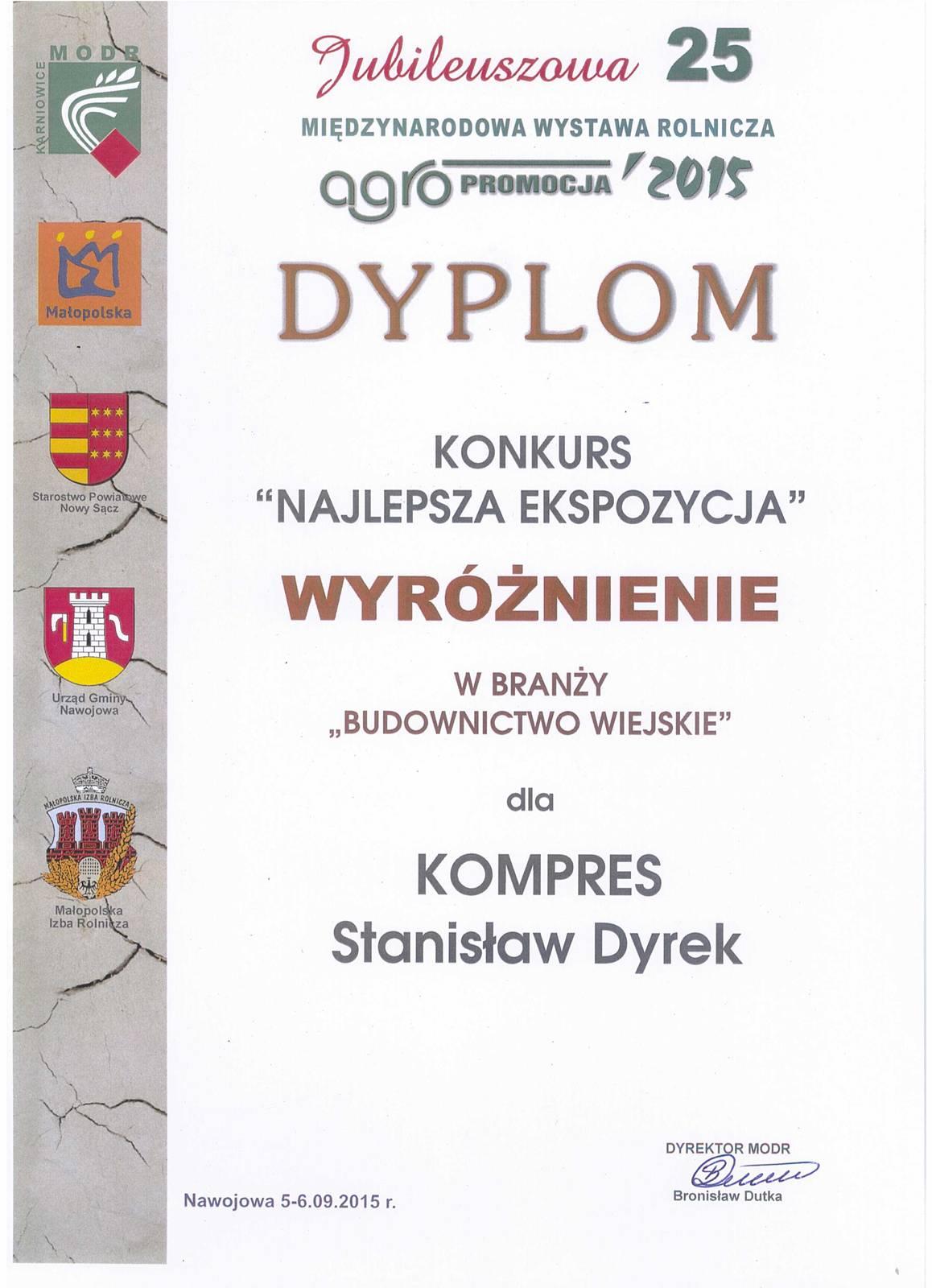Dyplom 2015